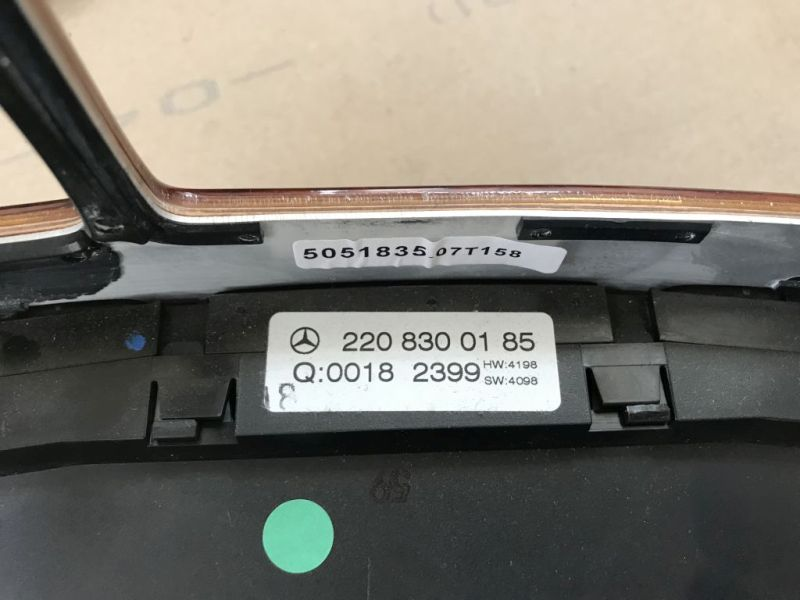 Schalter Klimaanlage KlimasteuerungMERCEDES-BENZ S-KLASSE (W220) S 320
