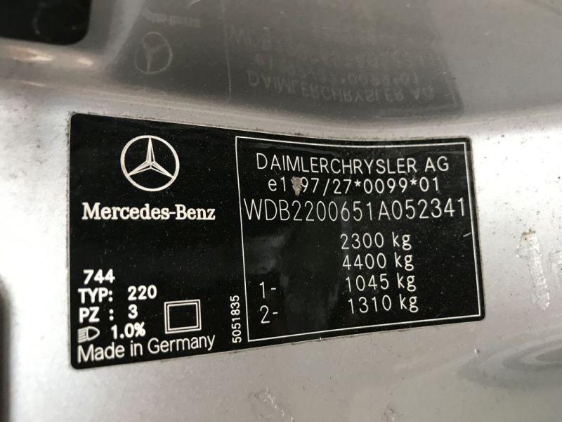 Mittelkonsole Mittelarmlehne hintenMERCEDES-BENZ S-KLASSE (W220) S 320
