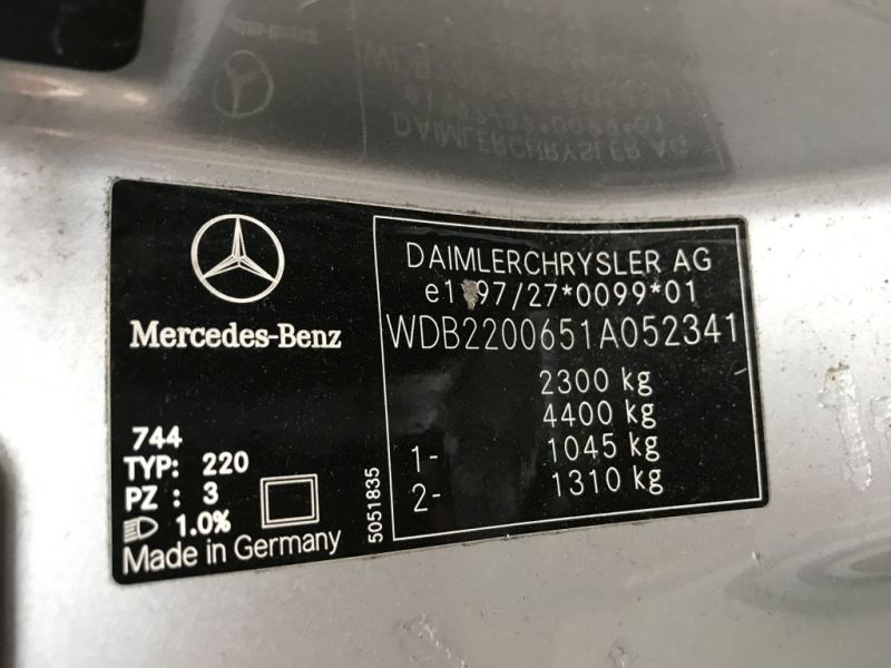 Schalter Fensterheber FahrertürMERCEDES-BENZ S-KLASSE (W220) S 320
